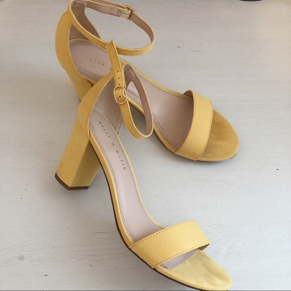 Kelly & Katie Shoes - Kelly & Katie Hailee Sandal in Yellow Suede